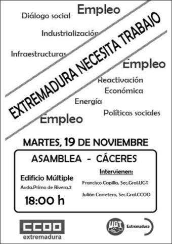 Asamblea Cáceres 19 de noviembre