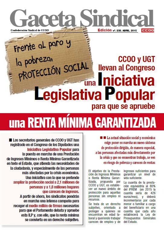 """POR UNA """"RENTA MÍNIMA GARANTIZADA"""" INICIATIVA LEGISLATIVA ... - photo#48"""