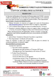Nota Informativa Plazas INFOEX 2016