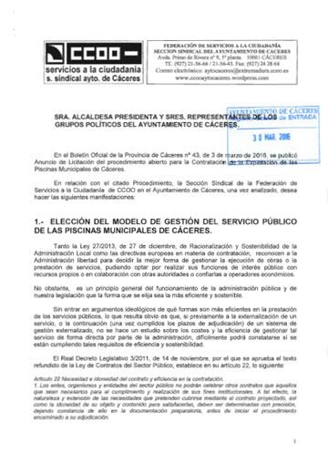 Escrito Concesión Piscinas Municipales